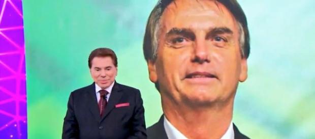 Jair Bolsonaro falou ao vivo com Silvio Santos durante Teleton.