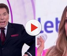 Claudia Leitte reclama de Silvio Santos ao vivo no Globo. (foto reprodução).