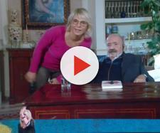 Maria De Filippi e Maurizio Costanzo durante il collegamento a Che tempo che fa