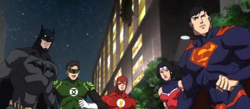 A Liga da Justiça adaptada para as animações da DC.