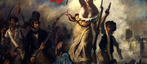 Eugene Delacroix' Liberty Leading the People [Image source: Wikipedia]