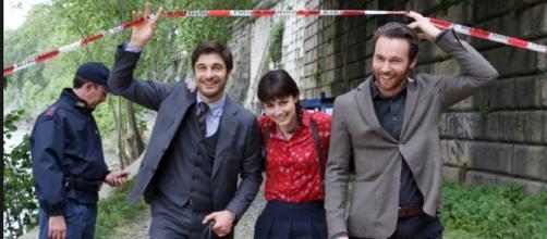I tre protagonisti della serie televisiva.