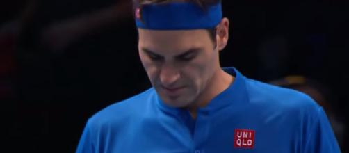 Roger Federer lsot his opening match at the 2018 Nitto ATP Finals. Photo: screencap via Tennis TV/ YouTube