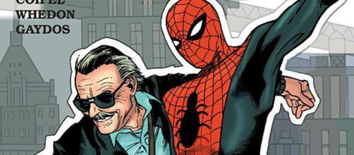 Stan Lee e o Homem-Aranha, uma de suas criações mais famosas