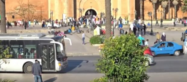 A street scene of Morocco. [Image source/ Timosha21 YouTube video]