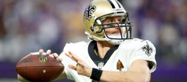 Drew Brees has the Saints rolling. [Image via ESPN.com/YouTube]