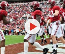 Do the Alabama Crimson Tide stand a chance against any NFL team? [Image via Alabama Football/YouTube]
