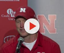 Huskers coach getting interviewed. - [Huskersonline / YouTube screencap]