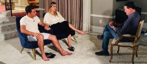 Ao lado da esposa, Thyane Dantas, Safadão conversou com Roberto Cabrini e abriu o coração. (foto reprodução).
