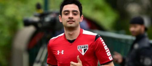 Daniel em dia de treinamento do São Paulo Futebol Clube. (Reprodução/Gazeta Esportiva)