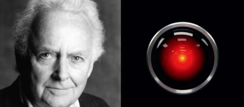 Douglas Rain, the voice actor who played HAL 9000, has died at the age of 90. [Image Rain @stratfest/Twitter/HAL @michaelbierut/Twitter]