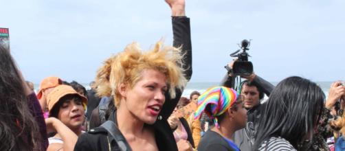 Miembros de la comunidad LGTB llegaron a Tijuana.