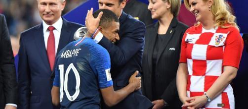 Mbappé et le président Emmanuel Macron