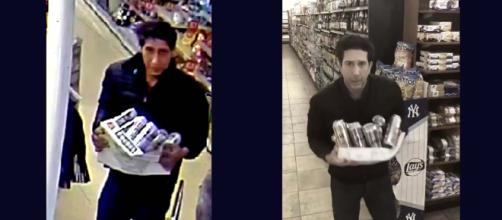 "The thief that closely resembles David Schwimmer of ""Friends"" has been arrested in London. [Images Blackpool Police/@davidschwimmer/Twitter]"