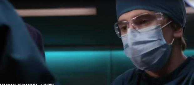Shaun Murphy (Freddie Highmore) contends with a goldfish situation at home and crisis surgery on The Good Doctor. [Image source:TVPromos-YouTube]
