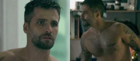 Bruno Gagliasso em cena de O Sétimo Guardião como Gabriel.