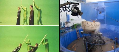 Algumas cenas de bastidores dos filmes