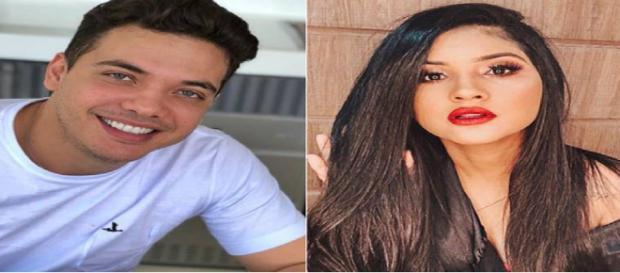 Wesley Safadão e Mileide Mihaile em colagem de fotos do Instagram. (foto reprodução).