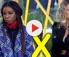 Catia Paganote e Luane Dias estão se enfrentando na roça e hoje uma delas será eliminada