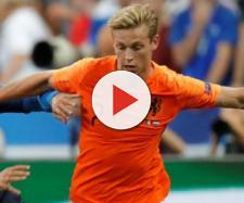 Frenkie de Jong con la maglia della nazionale olandese