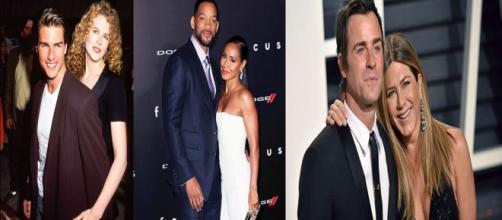 Do set de filmagem para a vida real, casais de celebridades que se apaixonaram.