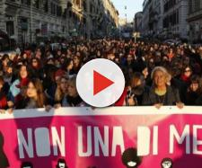 Manifestazione femminista del 24 novembre a Roma (foto: Donne in rete contro la Violenza)