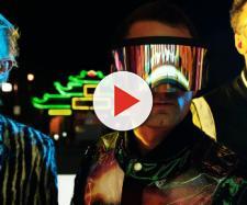 Muse: al centro il cantante e chitarrista Matt Bellamy.