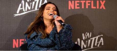 """Cantora Anitta por ocasião da apresentação de sua série documental, """"Vai Anitta"""""""