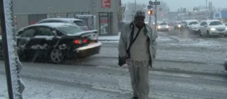 Snowfall in New York City, 11/15/2018. [Image source/StormChasingVideo YouTube video]