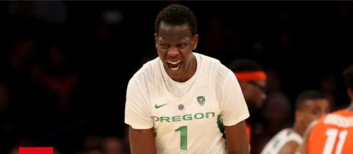 An Oregon player celebrates beating Syracuse. - [ESPN / YouTube screencap]
