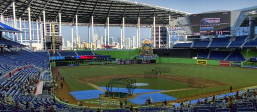 An image of Marlins Park. [image source: Dan Lundberg- Wikimedia Commons]