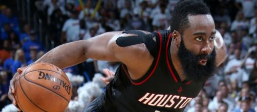 James Harden helped lead the Rockets to a big win over Golden State on Thursday (Nov. 15). [Image via NBA/YouTube]