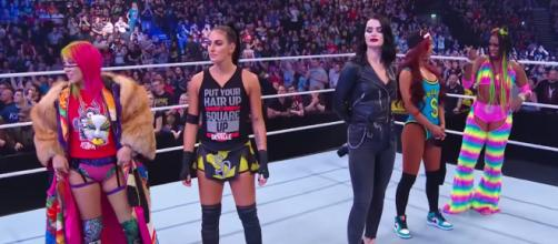 The ladies of Team SmackDown still need a fifth member for their team at Sunday's WWE Survivor Series PPV. [Image via WWE/YouTube]