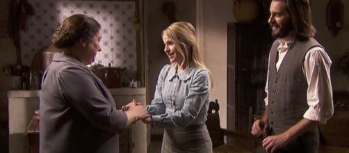 Trame, Il Segreto: Consuelo trova lavoro alla locanda, poi affitta casa a Isaac e Antolina