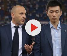 Il ds dell'Inter, Piero Ausilio, con il presidente della squadra nerazzurra, Steven Zhang