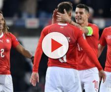 La gioia dei giocatori svizzeri dopo la straordinaria impresa ai danni del Belgio