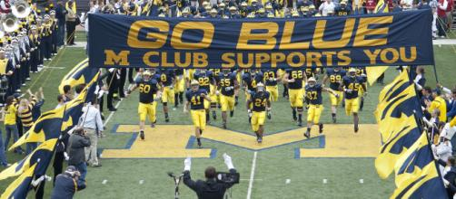 Michigan takes the field against Maryland. - [Larrysphatpage / Wikimedia Commons]