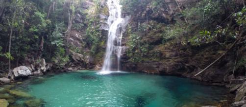Cachoeira Santa Barbara, Cavalcante - Goiás.
