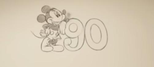 Disney's Mickey Mouse celebrates his 90th Birthday (Image credit: TheOfficialPandora/YouTube.com screen grab)