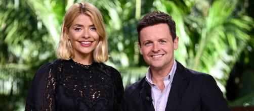 Holly Willoughby joins Dec for this first time in the 2018 I'm a Celeb Jungle. (Image credit: @imacelebrity/Twitter.com)