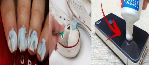 Várias utilidades do creme dental. (foto reprodução).