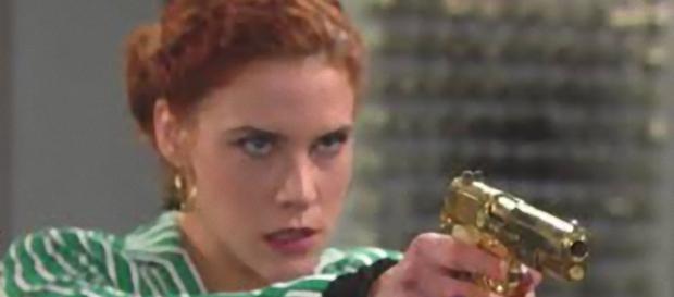 Beautiful: Sally Spectra punta una pistola contro Bill Spencer