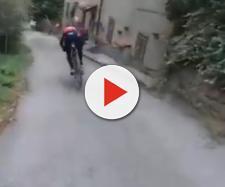 Vincenzo Nibali prova la sua nuova Merida con i freni a disco