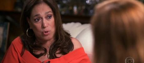 Susana Vieira em entrevista para o Fantástico.