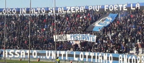 Pisa Olbia 1-1 17/11/2018, 12ª giornata del campionato di serie C girone A: tributo della curva a Romeo Anconetani