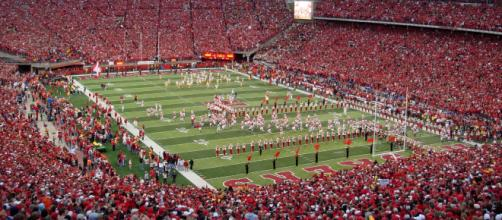 The Nebraska football team talked Iowa and the season on Monday [Image courtesy Bobak Ha'Eri/Wikimedia Commons]