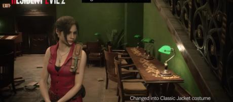 Leon and Claire's classic costumes are added in the game [Image Credit: Resident Evil/YouTube screencap]