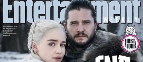 Jon y Daenerys en la primera imagen promocional de la octava temporada.