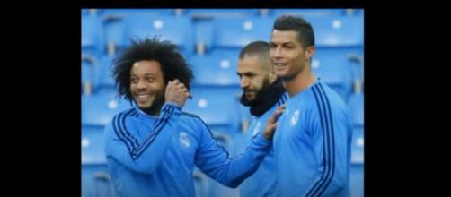 Marcelo e Cristiano Ronaldo [Imagem via YouTube]