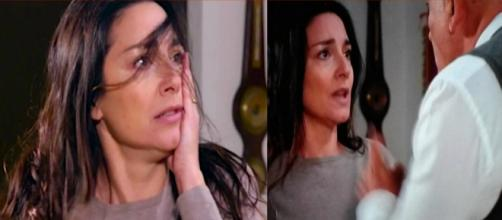 Un Posto al sole: Adele( Sara Ricci ) vittima della violenza del marito